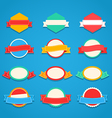 Different vintage insignias set Ready for a text vector image