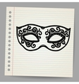 Vintage mask doodle vector image