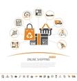 Internet Shopping Concept vector image