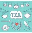 Tea card Set of elements for design vector image vector image