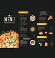 restaurant cafe menu template flat design vector image