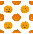 Pumpkins Jack O Lantern seamless background vector image vector image