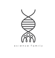 people and DNA spiral design template vector image