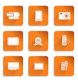 audio video icons vector image