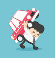 businessman automobile loan liability vector image