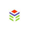 cube shape technology logo vector image
