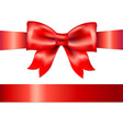 Red Gift Satin Bow vector image