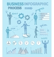 Sketch Business People Infographics vector image