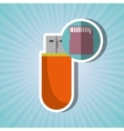 usb connection design vector image