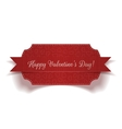 Valentines Day red greeting Label Template vector image