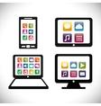 gadgets mobile apps design vector image