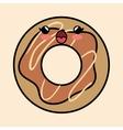 yummy kawaii donut sweet icon vector image