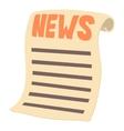 Newspaper icon cartoon style vector image