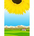 Summer rural landscape vector image