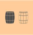 wine or beer barrels dark grey set icon vector image