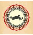 Vintage label-sticker cards of Massachusetts vector image