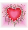 Flower with heart shape vector image