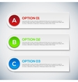 Modern 3d infographics options Abstract 3D digital vector image vector image