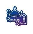 Ramadan Kareem greeting card design template vector image
