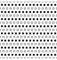 black and white square design vector image