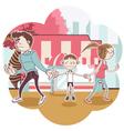 Child Custody vector image