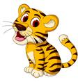 cute baby tiger posing vector image