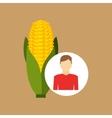 farm countryside farmer people design vector image