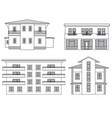 houses building facade set vector image