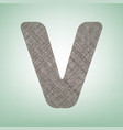 letter v sign design template element vector image
