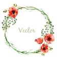 Poppy wearth vector image