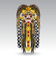 Rangda leak traditional bali demon mask vector image