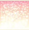shiny hearts bokeh vector image