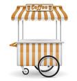 street food cart coffee vector image