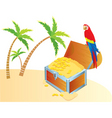 treasure parrot color vector image