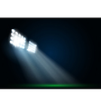 Two spotlights on a football field vector image