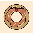 yummy kawaii donut sweet icon vector image