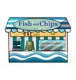 A fish and chips shop vector image vector image