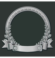 silver round frame vector image vector image