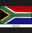 national flag of south africa vector image