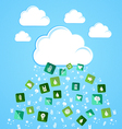 Cloud computing eco friendly icons vector image