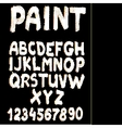 Hand-drawn font on textured paper with paint vector image vector image