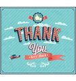 Thank you typographic design vector image