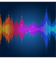 equalizer colorful musical bar vector image