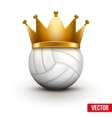 Volleyball ball with royal crown vector image