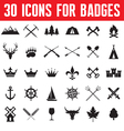 30 Icons for Badges and Design Works vector image
