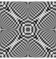 Design seamless monochrome checkered pattern vector image