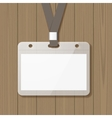 Blank badge mock up vector image