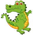 crocodile cartoon isolated vector image vector image