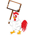 cartoon chicken rooster vector image