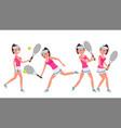 female tennis player woman big tennis vector image